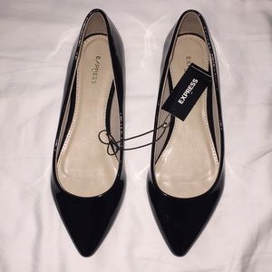 Express Black Patent Leather Flats